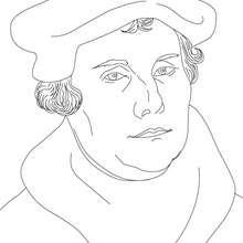 Retrato de MARTIN LUTERO para colorear - Dibujos para Colorear y Pintar - Dibujos para colorear PERSONAJES - PERSONAJES HISTORICOS para colorear - ALEMANES para colorear