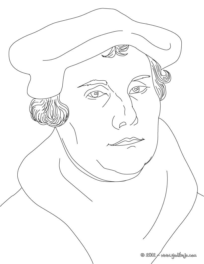 Dibujos Para Colorear Retrato De Martin Lutero Es Luther Coloring Page