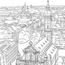 IGLESIA SAN  PABLO en Frankfurt para colorear - Dibujos para Colorear y Pintar - Dibujos para colorear los PAISES - ALEMANIA para colorear - MONUMENTOS DE ALEMANIA para colorear
