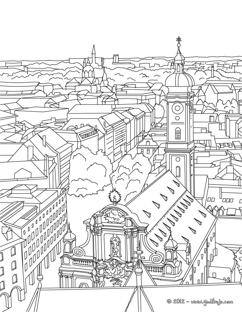 Dibujos Para Colorear Iglesia San Pablo En Frankfurt Es