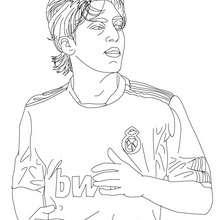 Dibujo para colorear : Mezut Ozil