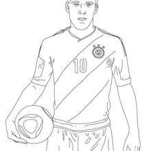 El aleman LUKAS PODOLSKI, jugador de futbol para colorear - Dibujos para Colorear y Pintar - Dibujos para colorear DEPORTES - Dibujos de FÚTBOL para colorear - FUTBOLISTAS para colorear