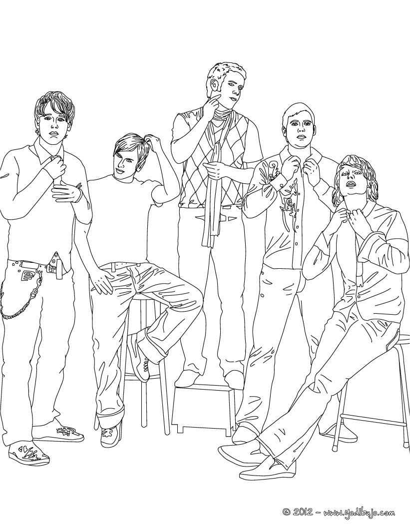 Dibujo para colorear : la banda REVOLVER