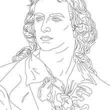 Dibujo del poeta aleman JOHANN CHRISTOPH FRIEDERICH VON SCHILLER para colorear - Dibujos para Colorear y Pintar - Dibujos para colorear PERSONAJES - PERSONAJES HISTORICOS para colorear - ALEMANES para colorear