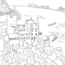 CASTILLO DE HEIDELBERG para colorear - Dibujos para Colorear y Pintar - Dibujos para colorear los PAISES - ALEMANIA para colorear - MONUMENTOS DE ALEMANIA para colorear