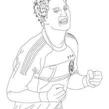Dibujo de BASTIAN SCHWEINSTEIGER, jugador de futbol aleman para colorear - Dibujos para Colorear y Pintar - Dibujos para colorear DEPORTES - Dibujos de FÚTBOL para colorear - FUTBOLISTAS para colorear