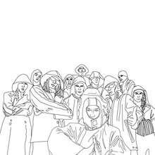 Dibujo de la banda alemana SEEED para colorear - Dibujos para Colorear y Pintar - Dibujos para colorear PERSONAJES - PERSONAJES HISTORICOS para colorear - ALEMANES para colorear