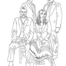 Dibujo de la banda WIR SIND HELDEN para colorear - Dibujos para Colorear y Pintar - Dibujos para colorear PERSONAJES - PERSONAJES HISTORICOS para colorear - ALEMANES para colorear