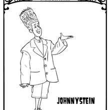 Dibujo de JOHNNYSTEIN de Hotel Transilvania para colorear - Dibujos para Colorear y Pintar - Dibujos de PELICULAS colorear - Dibujos de HOTEL TRANSILVANIA para colorear