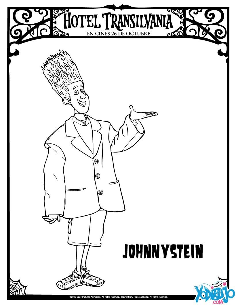Dibujos Para Colorear Johnnystein De Hotel Transilvania Es