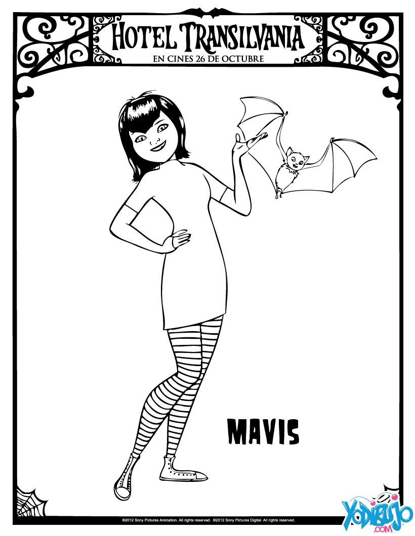 Dibujos Para Colorear Mavis La Hija De Dracula Es Hellokids Com