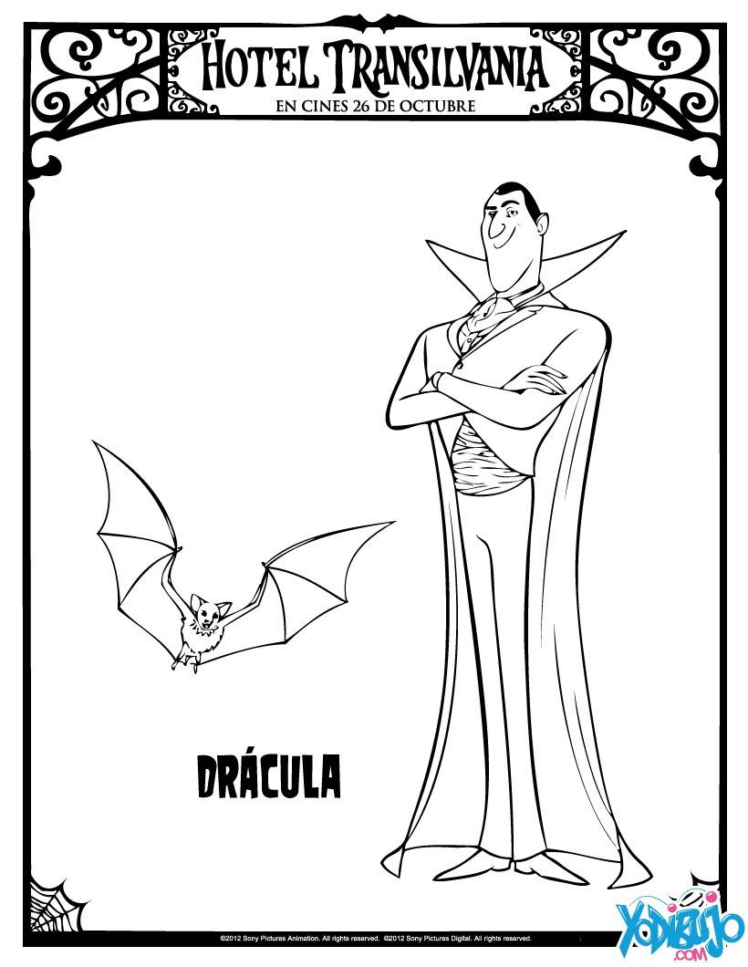 Dibujos Para Colorear Dracula Eshellokidscom