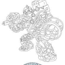 Dibujo de CRUCHER para colorear Skylanders Giants - Dibujos para Colorear y Pintar - Dibujos para colorear SUPERHEROES - Dibujos de SKYLANDERS GIANTS para colorear
