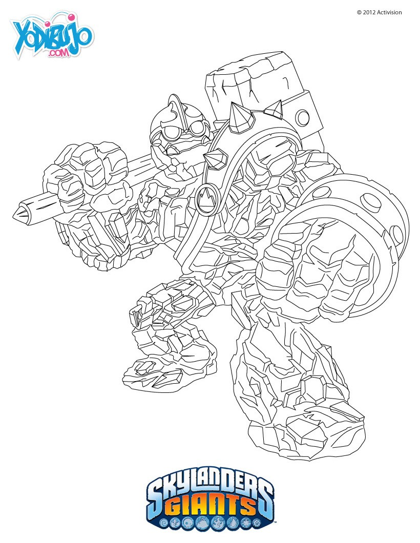 Excelente Skylanders Para Colorear Imprimible Imágenes - Dibujos ...