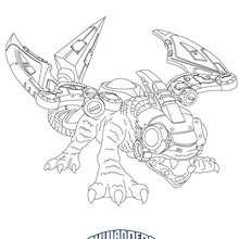 Dibujo de DROBOT para colorear Skylanders Giants - Dibujos para Colorear y Pintar - Dibujos para colorear SUPERHEROES - Dibujos de SKYLANDERS GIANTS para colorear