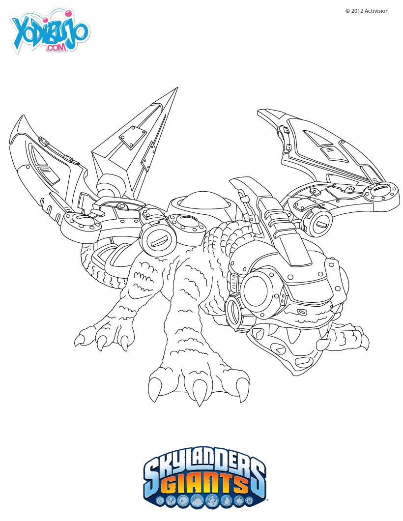 Dibujos para colorear drobot skylanders giants es - Coloriage skylanders giants ...