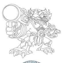 Dibujo para colorear : Dibbujo de JETVAC  Skylanders Giants