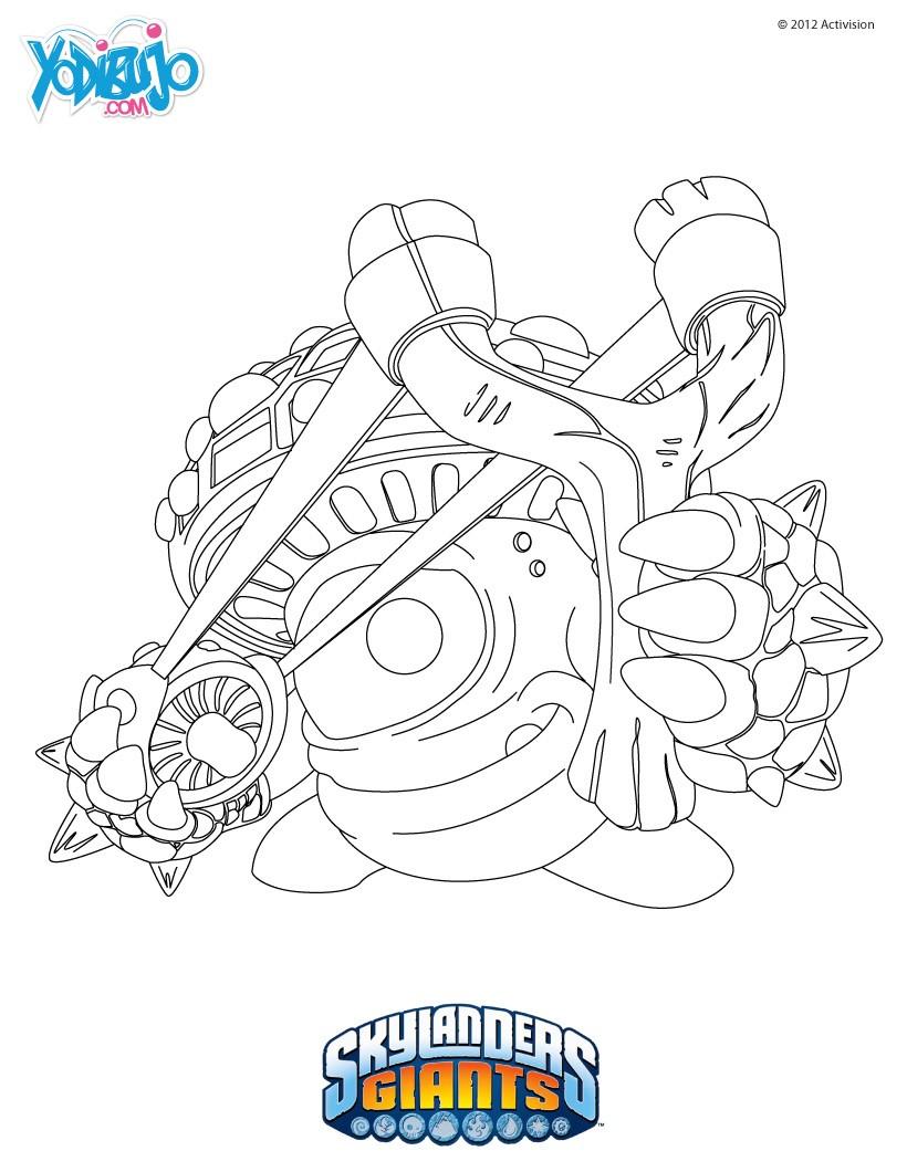 Famoso Skylanders Para Colorear Imprimible Ornamento - Dibujos Para ...