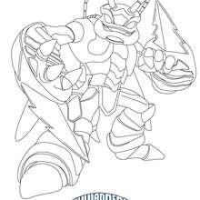Dibujo de SWARM para colorear Skylanders Giants - Dibujos para Colorear y Pintar - Dibujos para colorear SUPERHEROES - Dibujos de SKYLANDERS GIANTS para colorear