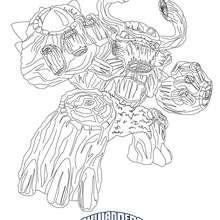 Dibujo de TREEREX para pintar Skylanders Giants - Dibujos para Colorear y Pintar - Dibujos para colorear SUPERHEROES - Dibujos de SKYLANDERS GIANTS para colorear