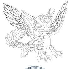 Dibujo para colorear : WHIRLWIND  Skylanders Giants