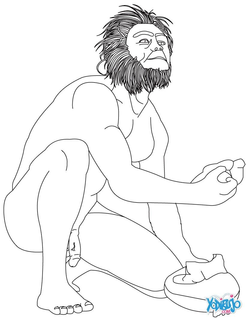 Homo Habilis Coloring Page