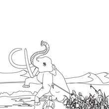 Dibujo de HOMO SAPIENS cazandoo el mamút - Dibujos para Colorear y Pintar - Dibujos para colorear HISTORIA - PREHISTORIA dibujos para colorear