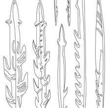 Dibujo del ARPON del HOMRE PREHISTORICO - Dibujos para Colorear y Pintar - Dibujos para colorear HISTORIA - PREHISTORIA dibujos para colorear