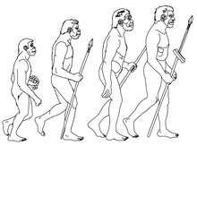 ETAPAS DE LA EVOLUCION HUMANA dibujo para colorear - Dibujos para Colorear y Pintar - Dibujos para colorear HISTORIA - PREHISTORIA dibujos para colorear