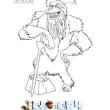 Dibujo de GUTT para colorear Ice Age 4 - Dibujos para Colorear y Pintar - Dibujos de PELICULAS colorear - Dibujos de ICE AGE 4 para colorear