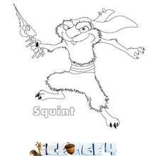 Dibujo de SQUINT para colorear Ice Age 4 - Dibujos para Colorear y Pintar - Dibujos de PELICULAS colorear - Dibujos de ICE AGE 4 para colorear