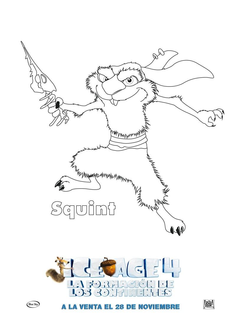 Hermosa Ice Age 3 Para Colorear Friso - Dibujos Para Colorear En ...
