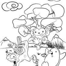 Dibujo de CHANGU, KAMU y PINGU de Petizoo para colorear - Dibujos para Colorear y Pintar - Dibujos para colorear PERSONAJES - Dibujos para colorear y pintar PERSONAJES - Dibujos de PETIZOO de LALA para colorear