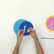 Video de fabricar un reloj para aprender a leer la hora - Videos infantiles gratis - Videos MANUALIDADES - Videos de manualidades VUELTA AL COLE