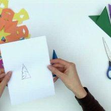 Fabricar copos de nieve con servilletas de papel - Videos infantiles gratis - Videos MANUALIDADES - Videos de manualidades NAVIDAD