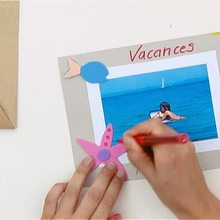 Video de fabricar una postal de vacaciones en la playa