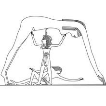 Diosa egipcia NOUT para colorear - Dibujos para Colorear y Pintar - Dibujos para colorear los PAISES - EGIPTO para colorear - DIOSES EGIPCIOS para colorear