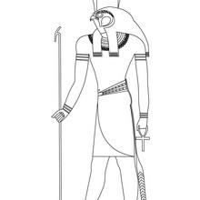 Dibujo de dios egipcio HORUS para colorear - Dibujos para Colorear y Pintar - Dibujos para colorear los PAISES - EGIPTO para colorear - DIOSES EGIPCIOS para colorear
