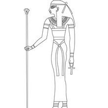 Deidad egipcia ISIS para colorear - Dibujos para Colorear y Pintar - Dibujos para colorear los PAISES - EGIPTO para colorear - DIOSES EGIPCIOS para colorear