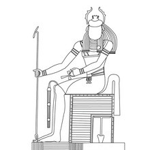 Dios KHREPI para colorear gratis - Dibujos para Colorear y Pintar - Dibujos para colorear los PAISES - EGIPTO para colorear - DIOSES EGIPCIOS para colorear