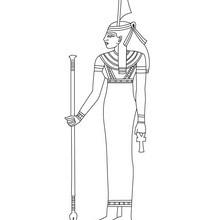 Dibujo para colorear : Diosa egipcia MA'AT