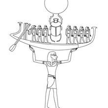 Dibujo para colorear : Deidad NUN  Egipto