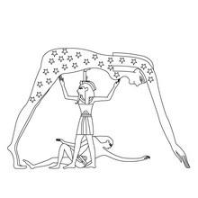 Dibujo de NUT para colorear EGIPTO - Dibujos para Colorear y Pintar - Dibujos para colorear los PAISES - EGIPTO para colorear - DIOSES EGIPCIOS para colorear