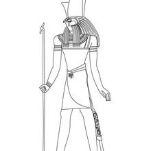 Deidad KHONSU para colorear - Dibujos para Colorear y Pintar - Dibujos para colorear los PAISES - EGIPTO para colorear - DIOSES EGIPCIOS para colorear