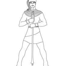 Dibujo del dios APTHA para colorear Antiguo Egipto - Dibujos para Colorear y Pintar - Dibujos para colorear los PAISES - EGIPTO para colorear - DIOSES EGIPCIOS para colorear
