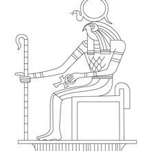 Dibujo de la deidad egipcia RA para colorear - Dibujos para Colorear y Pintar - Dibujos para colorear los PAISES - EGIPTO para colorear - DIOSES EGIPCIOS para colorear