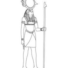 Deidad RAHORAKHTY para colorear Antiguo Egipto - Dibujos para Colorear y Pintar - Dibujos para colorear los PAISES - EGIPTO para colorear - DIOSES EGIPCIOS para colorear