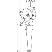 Diosa SESHAT para colorear Egipto gratis - Dibujos para Colorear y Pintar - Dibujos para colorear los PAISES - EGIPTO para colorear - DIOSES EGIPCIOS para colorear