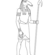 Dibujo para colorear : Deidad SETH de Antiguo Egipto