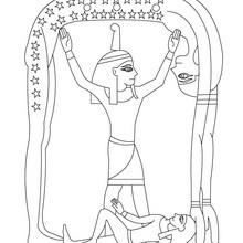 Deidad egipcia SHU para pintar y colorear gratis - Dibujos para Colorear y Pintar - Dibujos para colorear los PAISES - EGIPTO para colorear - DIOSES EGIPCIOS para colorear